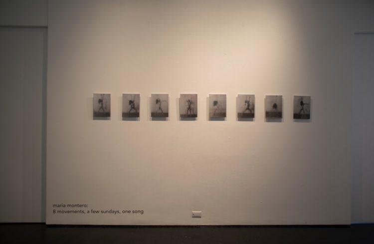 vista da exposição 8 movements, a few sundays, one song na Simon Preston Gallery, NY
