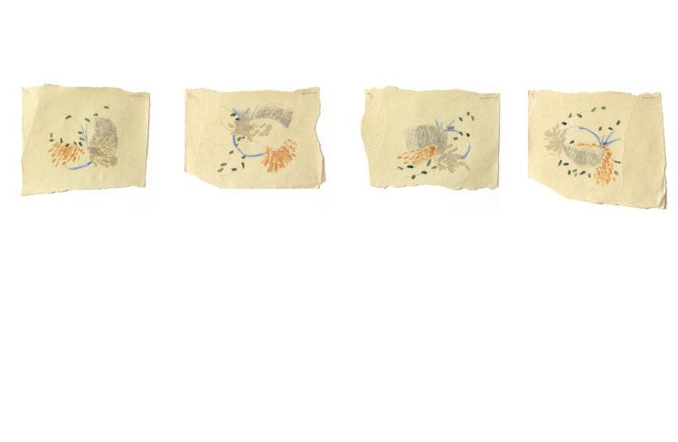minerais | 21 x 29,7cm | lápis de cor, grafite e esmalte de unha sobre papel | 2020