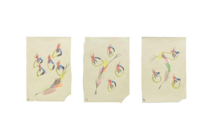 sem título | lápis de cor e grafite sobre papel | 3x (33 x 48 cm) | 2020